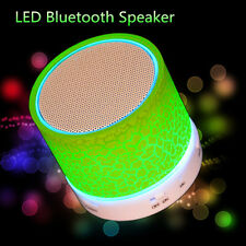 LED MINI Portable Wireless Bluetooth Speaker TF USB Music Sound Subwoofer 1pc