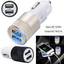 Car Charger Adapter Bullet Dual Socket USB 2-Port for iPhone 5s 6 Plus Samsung#