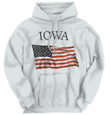 Iowa Patriotic Home State American USA T Shirt Flag Gift Pride Hoodie Sweatshirt