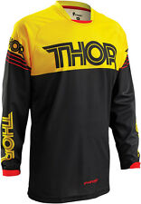 Thor Mens & Youth Black/Golden Yellow Phase Hyperion Dirt Bike Jersey MX ATV '16