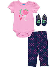 """Bon Bebe Baby Girls' """"Berry Beauty"""" 3-Piece Outfit"""