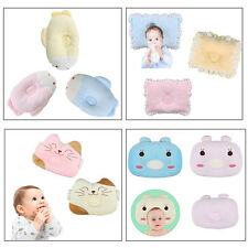Newborn Baby Infant Pillow Neck Support Anti-Flat Head Velvet/Cotton Cushion Pad