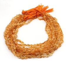 11 Strands Citrine Faceted Oval Beads - 7mmx5mm-9mmx6mm 13.5 Inch Long ISR262