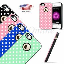 Neo Bumper Case Hybird TPU Rubber Polka-dot Shockproof Cover For Apple iPhone 5S