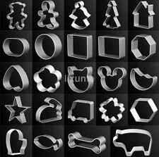 Metal Aluminum Cake Biscuit Cookie Cutter Mold DIY Baking Pastry Tool 17 Style x