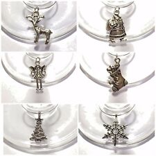 Christmas Wine Glass Charms Table decorations x6