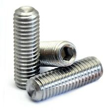 #4-40 - CUP Point SOCKET SET / GRUB SCREWS UNC Coarse Stainless Steel A2 / 18-8