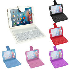 Cover Case Leather with Built-in Wireless Bluetooth Keyboard for iPad Mini 2/3/4