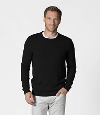 WoolOvers Mens Pure Cashmere Crew Neck Long Sleeve Jumper Winter Warm Sweater