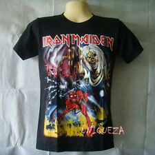 IRON MAIDEN Number Of Beast Both Sides Printed Heavy Metal Rock Band T-shirt NWT