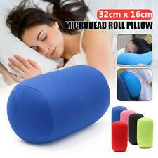 Roll Pillow Home Seat Head Rest Neck Support Travel Micro Mini Microbead Cushion