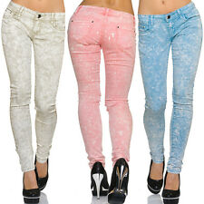 Ladies High Waist Stretch Jeans Skinny Trousers Women's washed Legg