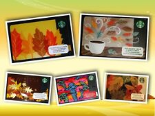 """STARBUCKS GIFT CARD *NEW NO VALUE* """"FALL COLLECTION"""" AUTUMN LEAVES 2011 13 14 15"""