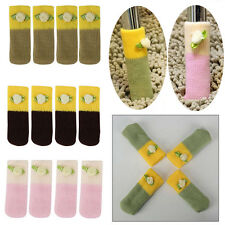 Knit Table Chair Furniture Feet Leg Sock Floor Protectors Sleeves Cover 4/12pcs