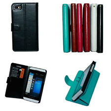 Luxury PU Leather Wallet Card Holder Flip Cover Stand Case For BlackBerry Z10