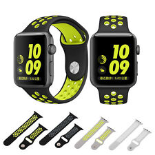 TOP 38/42MM Dual Color Silicone Watch Band Adjustable For Apple Watch  lot V