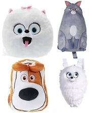 OFFICIAL The Secret Life Of Pets Soft Backpack MAX GIDGET CHLOE Fluffy Plush