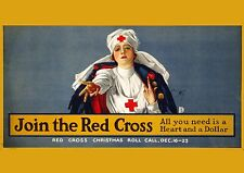 Art print POSTER 1917-RED-Join the Red Cross