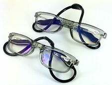 High Quality Twin Pack SAVE £9.99 Magnetic Reading Glasses Grey Unisex Grey