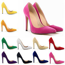Women's Shoes Sexy Suede High Heels Pointed Stiletto Work Lady Shoe Pumps Court