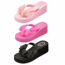 Summer Fashion Female Thick High-heeled Platform Flip-flops Sandals Slippers O4
