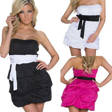 Ladies Sexy Mini Dress Bix Strapless Cocktail Dress Party Mini Clothes Tall