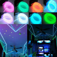 1-5M Flash Flexible Neon LED  Glow EL Strip Tube Wire Rope Car Party Light DE
