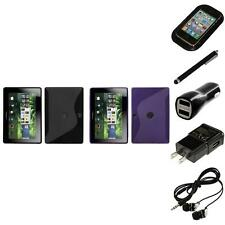 For BlackBerry Playbook TPU Rubber Skin Flexible Case Phone Cover Headphones