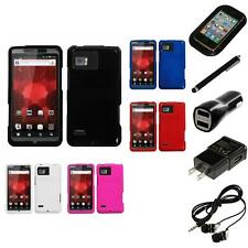 For Motorola Droid Bionic XT875 Rigid Plastic Hard Snap-On Case Cover Headphones