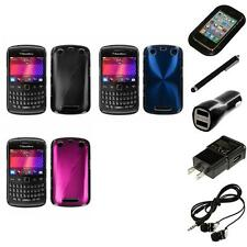 For BlackBerry Curve 9350 9360 9370 Aluminum Armor Cosmo Hard Case Headphones