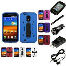 For Samsung Epic Touch 4G D710 Kickstand Case Heavy Duty Case Headphones