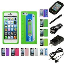 For Apple iPhone 5/5S/SE Silicone Skin Rubber Soft Case Phone Cover Headphones