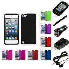 For Apple iPod Touch 5th 6th Gen Snap-On Hard Case Skin Accessory Headphones