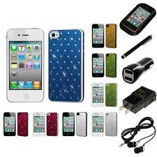 For Apple iPhone 4/4S Back Plate Hard Case Phone Cover Headphones