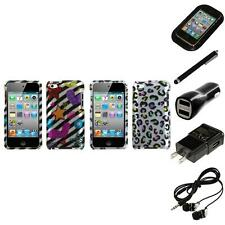 For Apple iPod Touch 4th Gen Design Snap-On Hard Case Skin Cover Headphones