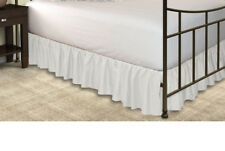"""Beautiful Dust Ruffle Bed skirt All Size White Color 100%Egyptian Cotton 15""""Drop"""