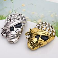 Fashion Vintage Personality Halloween Crystal Skull Clothing Accessories Brooch