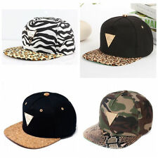 New Men Women Leopard Visor Plain Snapback Hat Adjustable Hip Hop Baseball Cap