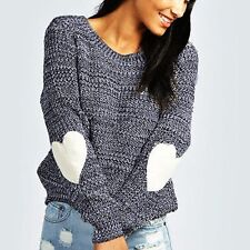Women Casual Long Sleeve Knitted Pullover Top Loose Sweater Knitwear Jumper