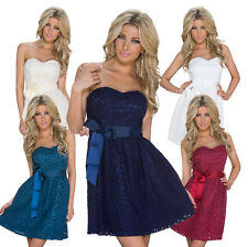Sexy Ladies Bandeau Dress Empire Dress Lace Cocktail Dress Party Wedding S 34 36