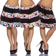 Ladies Skirt A-Line knee length Floral pattern Business Casual Fashion S 32 34