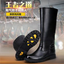 Leather 2017 TOP COOL-MEN Riding Equestrian honour guard ARMY LONG boot US 12 13