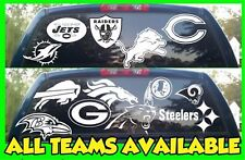 NFL Football Vinyl DECAL Car Truck Window STICKER Graphic All Teams NFL White