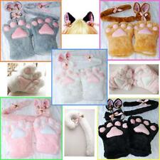 Halloween Party Cosplay Costume Tail Bow-tie Cat Ears Paw Claw Gloves