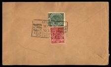 India colorful franking with slogan cancel on cover to Bernard Iowa US