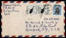 1956 Port au Prince Haiti airmail cover to Horseheads NY US