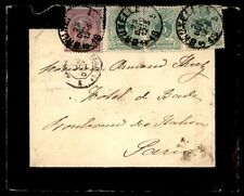 Belgium Brussels to US 1888 Multifranked Mourning cover