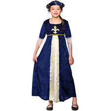 Child Girls Regal Princess Blue Costume Fancy Dress Up Role Play Party Halloween