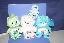 Care Bears American Bear,Bedtime Bear,Good Luck Bear 4 Plush dolls SET