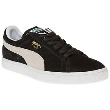 New Mens Puma Black Suede Classic Trainers Retro Lace Up